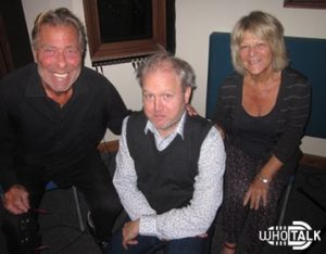 Recording a commentary for The Web Of Fear episode 6 with John Levene and Sylvia James.