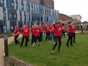 Lots Of Highly Trained And Skilled Professionals From Salford Royal Hospital Dance Like Loons Just To Raise Awareness About Psoriasis.