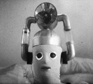 The iconic ending to the first episode of The Tenth Planet, with Reg centre stage.
