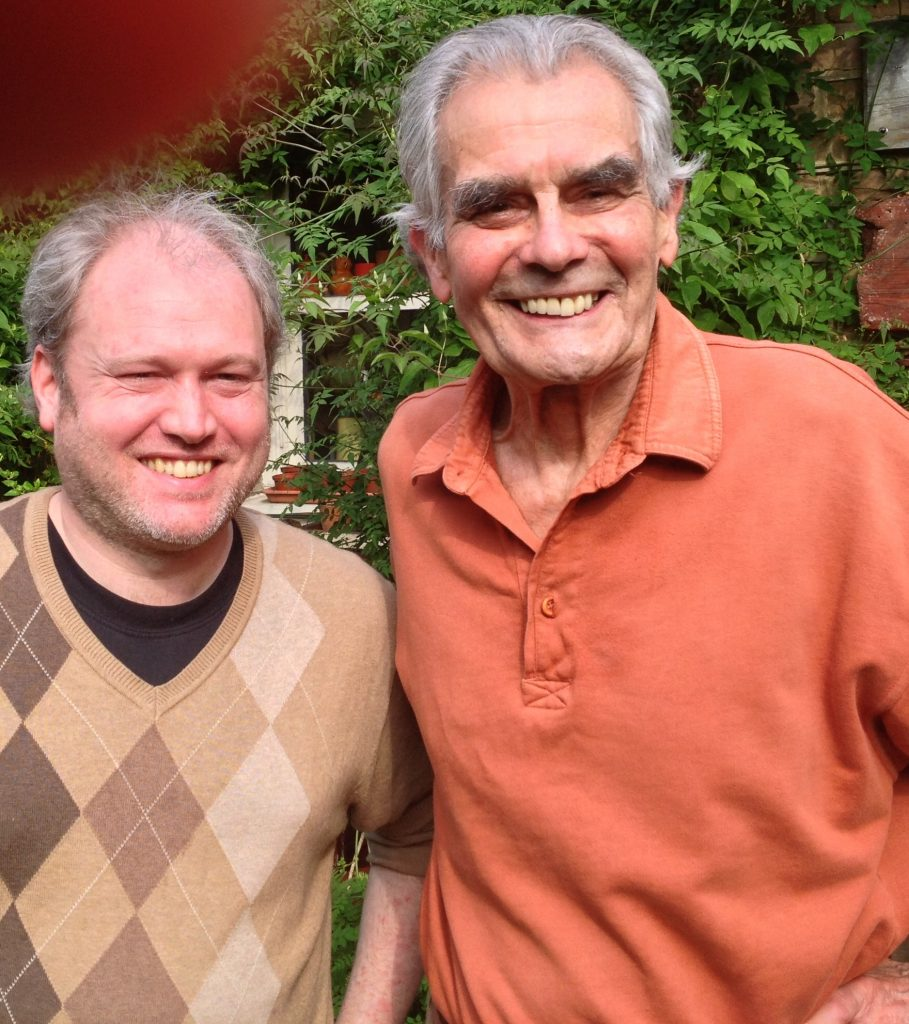 With Terry at his home in 2013