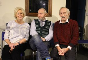 Kay Patrick and myself with the late Peter Thomas on 23rd November 2016. just two months before his death. Photo: Simeon Carter/Fantom Films.